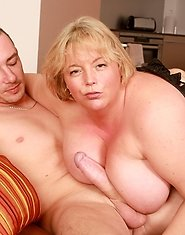 Sexy mature plumper get her pussy hammered, ass rippled, and tits bounced as she cums again and again